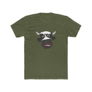 Vegan's Cow Printed Men's Cotton Crew Tee